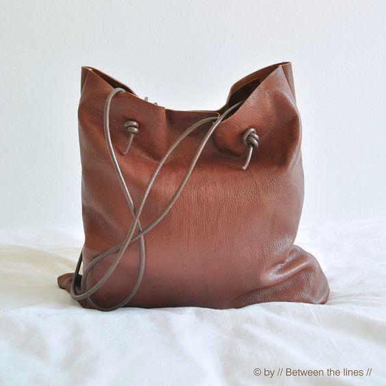 DIY sac en cuir marron