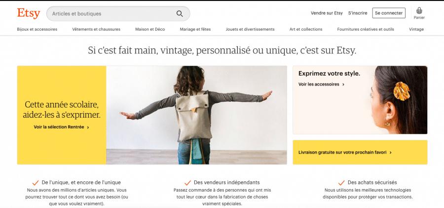 Vendre ses créations sur internet: Les places de marché 3